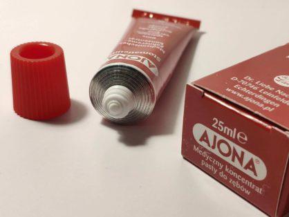 Recenzja koncentratu pasty do zębów Ajona